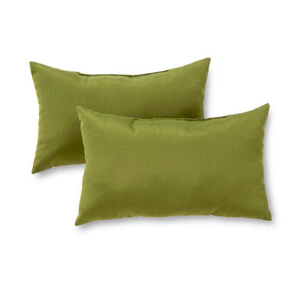 Greendale Home Fashions Solid Hunter Green Lumbar Outdoor Throw