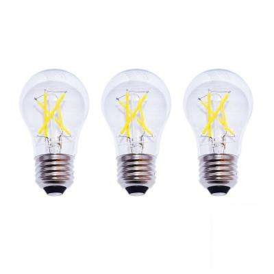 40-Watt Equivalent A15 Dimmable Clear Filament Vintage Style LED Light Bulb, Soft White (3-Pack)