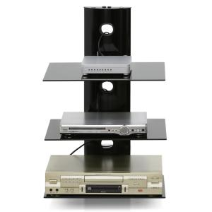 Furinno Modern 3-Tier Black Floating Wall Shelf for Media Accessories by Furinno
