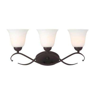 Lily 3-Light Oil Rubbed Bronze Bath Light