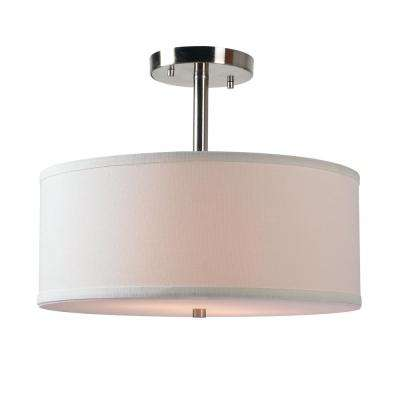 Paige 2-Light Steel Semi Flush mount