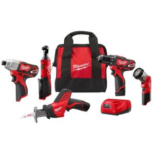 Deals on Milwaukee M12 12-V Li-Ion Cordless Combo Tool Kit 5-Tool