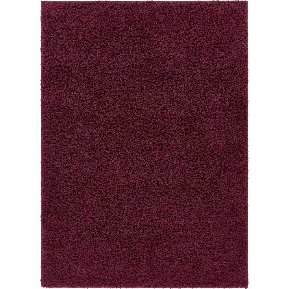 Tacoma Enchanting Modern Solid Plum 3 ft. 3 in. x 5