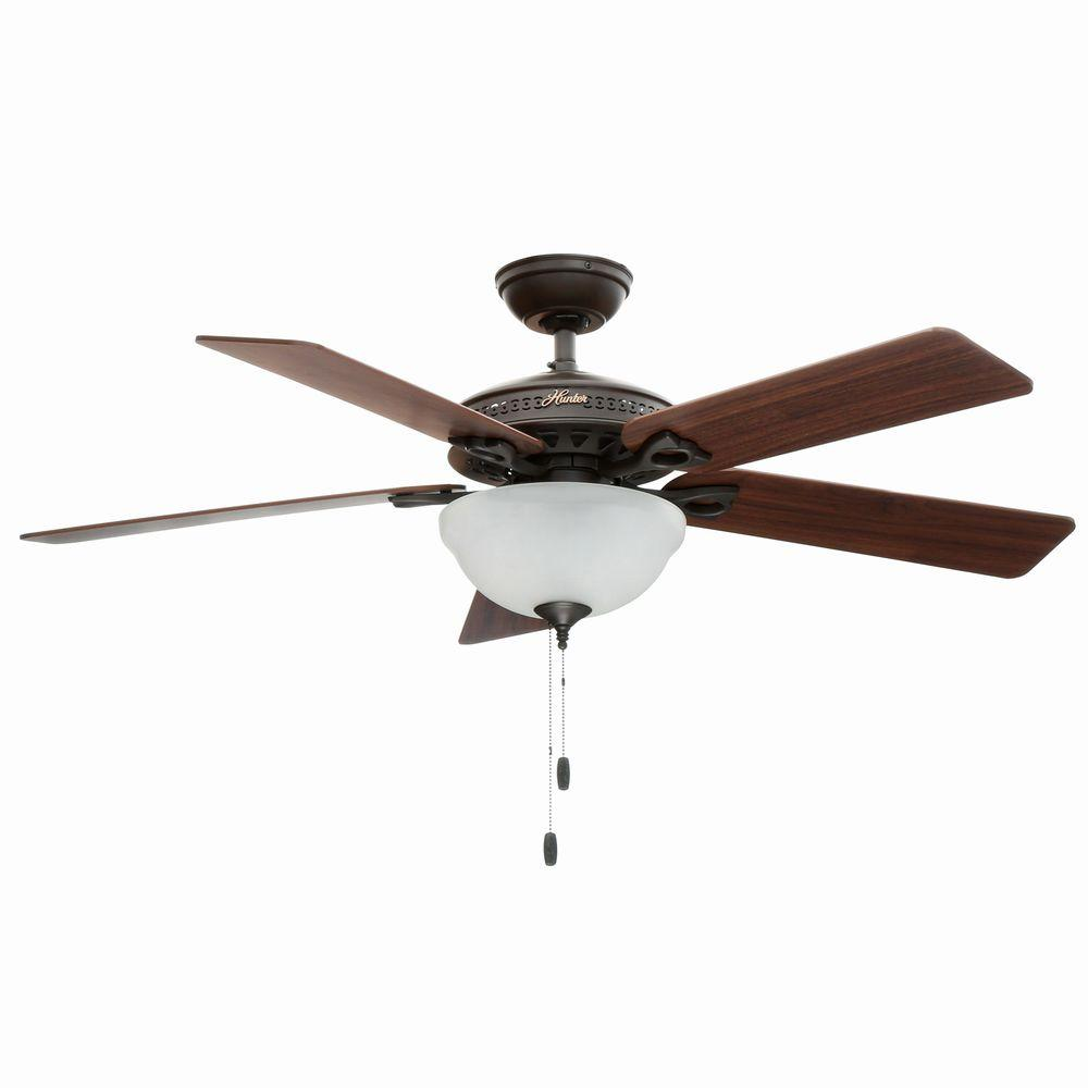 Hunter 52 Chatham New Bronze Ceiling Fan With Light At: Hunter Astoria 52 In. Indoor New Bronze Ceiling Fan With