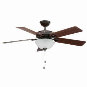 Hunter Astoria 52 inch Indoor New Bronze Ceiling Fan with Light Kit by Hunter