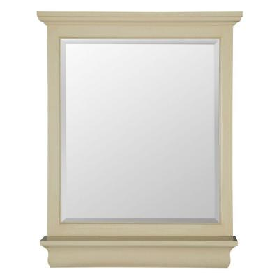 Cottage 38 in. L x 28 in. W Vanity Wall Mirror in Antique White