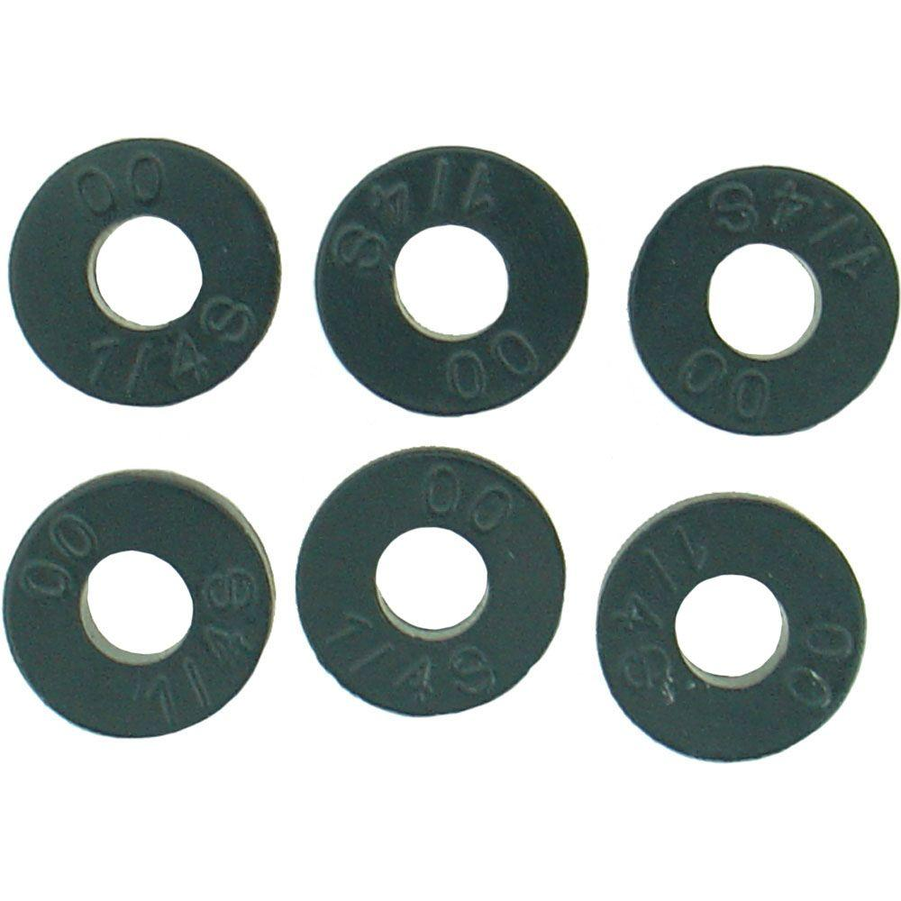 1/2 in. O.D. (00 Trade Size) Flat Faucet Washers (6-Pack)