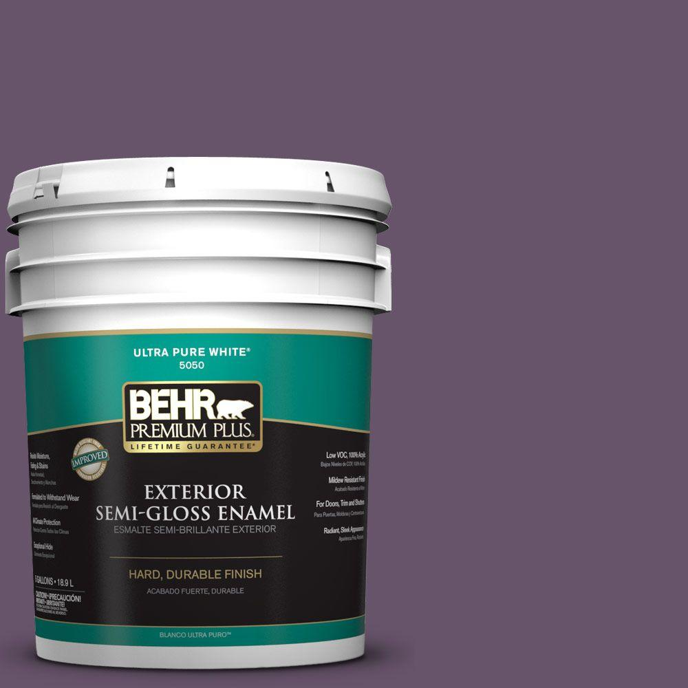BEHR Premium Plus 5-gal. #M100-6 Vintner Semi-Gloss Enamel Exterior Paint