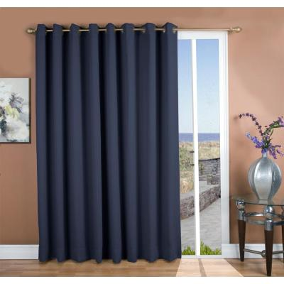 Ultimate Blackout 112 in. W x 84 in. L Polyester Blackout Patio Panel in Blue
