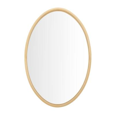 Medium Oval Gold Modern Mirror (30 in. H x 20 in. W)