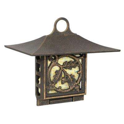 Oil Rubbed Bronze Oak Leaf Suet Feeder