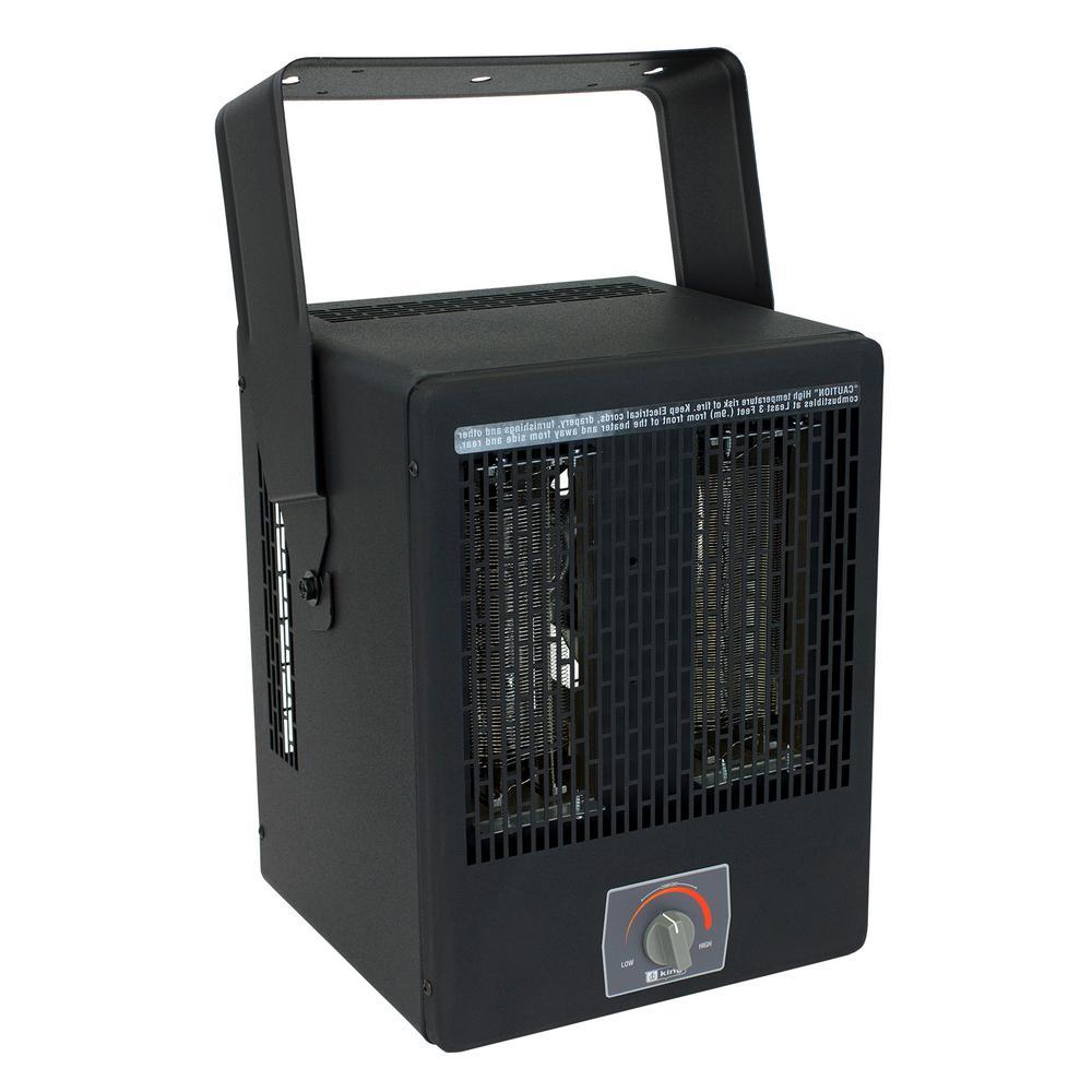 KING 5000-Watt 240-Volt Electric Garage Portable Heater ...