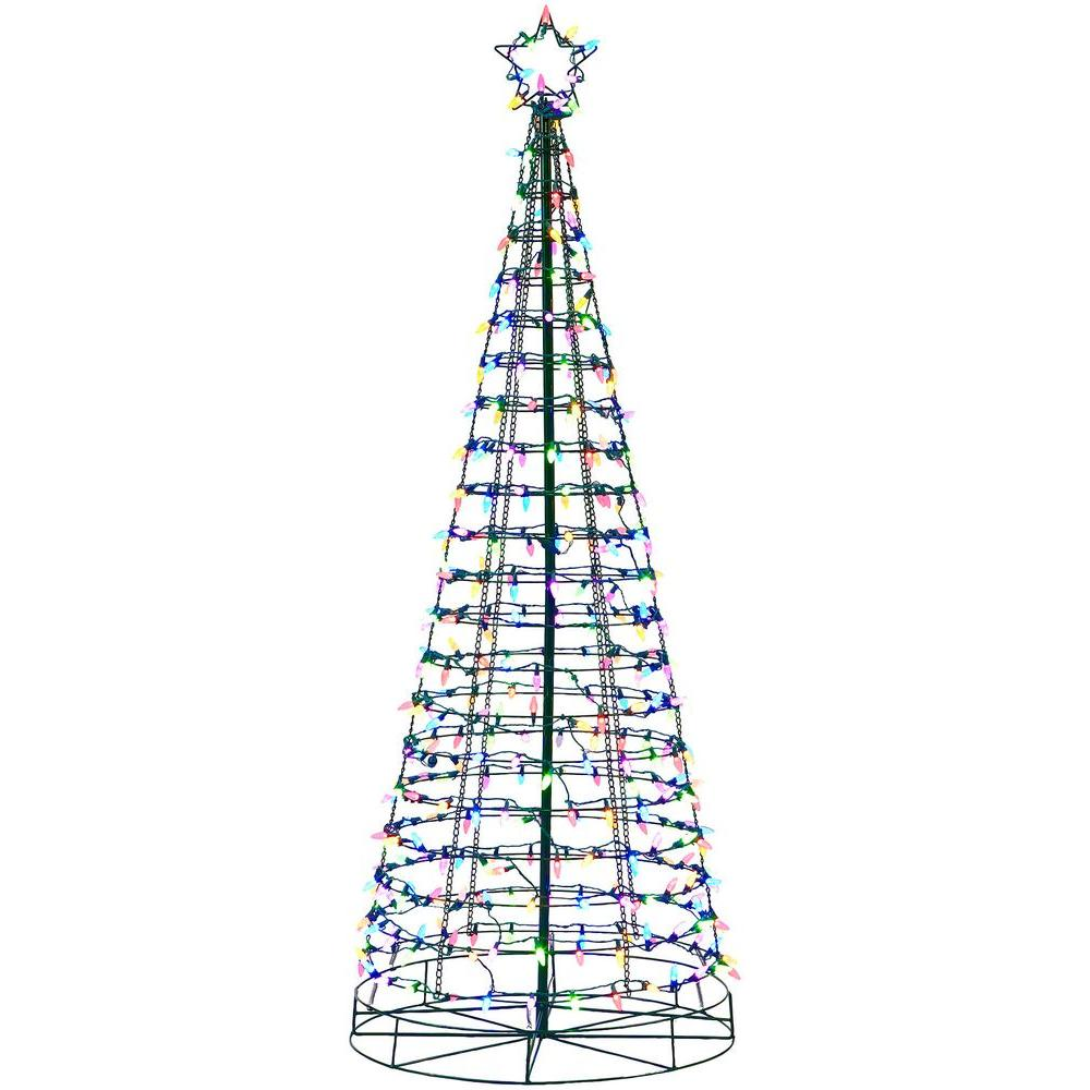 HomeAccentsHoliday Home Accents Holiday 6 ft. Pre-Lit LED Tree Sculpture with Star and Color Changing Blue to Multi-Color Lights
