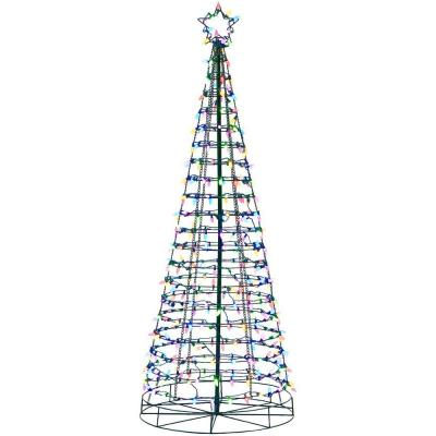 6ft LED Tree with Star and Color Changing Lights from Blue to Multi Color