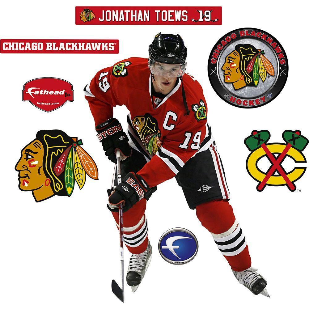 Fathead 19 in. x 32 in. Jonathan Toews Chicago Blackhawks Wall Decal