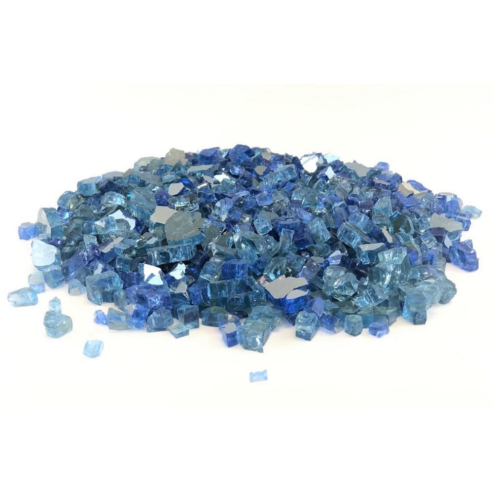 0.125 cu. ft. 1/4 in. 10 lbs. Caribbean Sky Blue Reflective Fire Glass