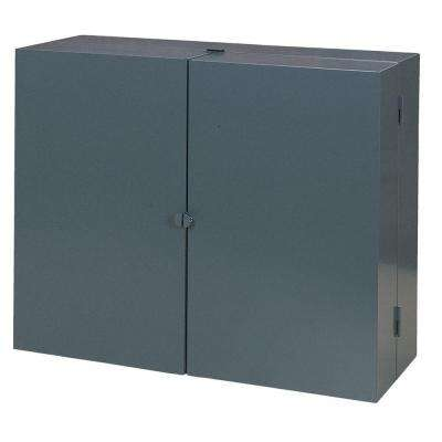 24 in. H x 30 in. W x 11 in. D Steel Wall Tool Storage Cabinet in Gray