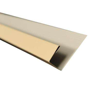 5 in. x 10.5 ft. J-Channel Drip Edge Flashing in Light Stone