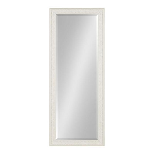 Large Rectangle White Beveled Glass Classic Mirror (52.5 in. H x 20.5 in. W)