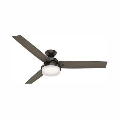 Sentinel 60 in. LED Indoor Premier Bronze Ceiling Fan with Integrated Light Kit and Handheld Remote Control