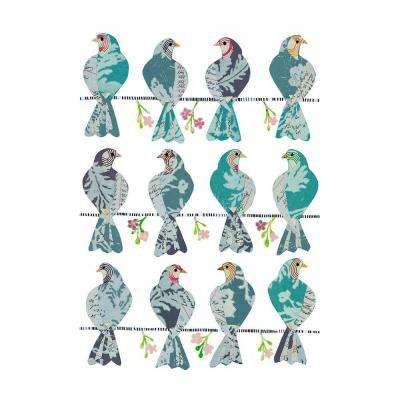 27 in. x 19 in. Doves Wall Decal