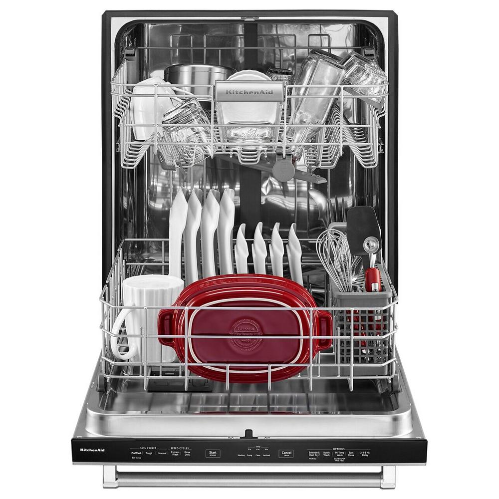 Kitchenaid Top Control Built In Dishwasher Panel Ready With Stainless Steel Tub And Proscrub Option 46 Dba