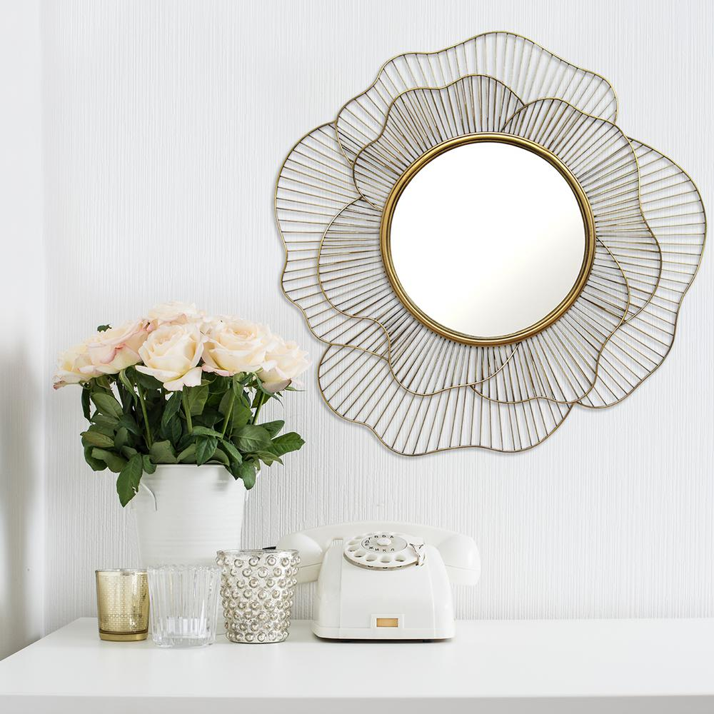 Elegant Stratton Home Decor Stella Decorative Mirror