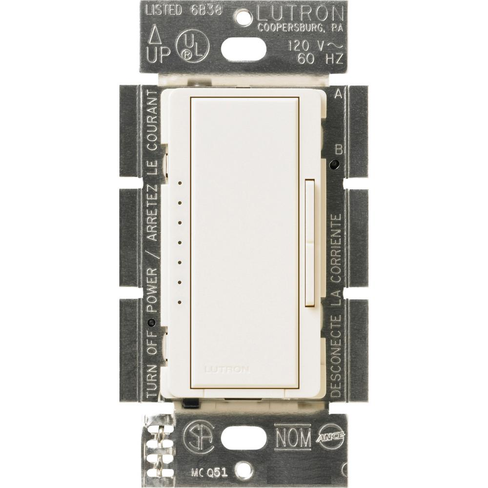 Lutron Maestro 600-Watt Multi-Location Electronic Low-Voltage Digital Dimmer, Biscuit