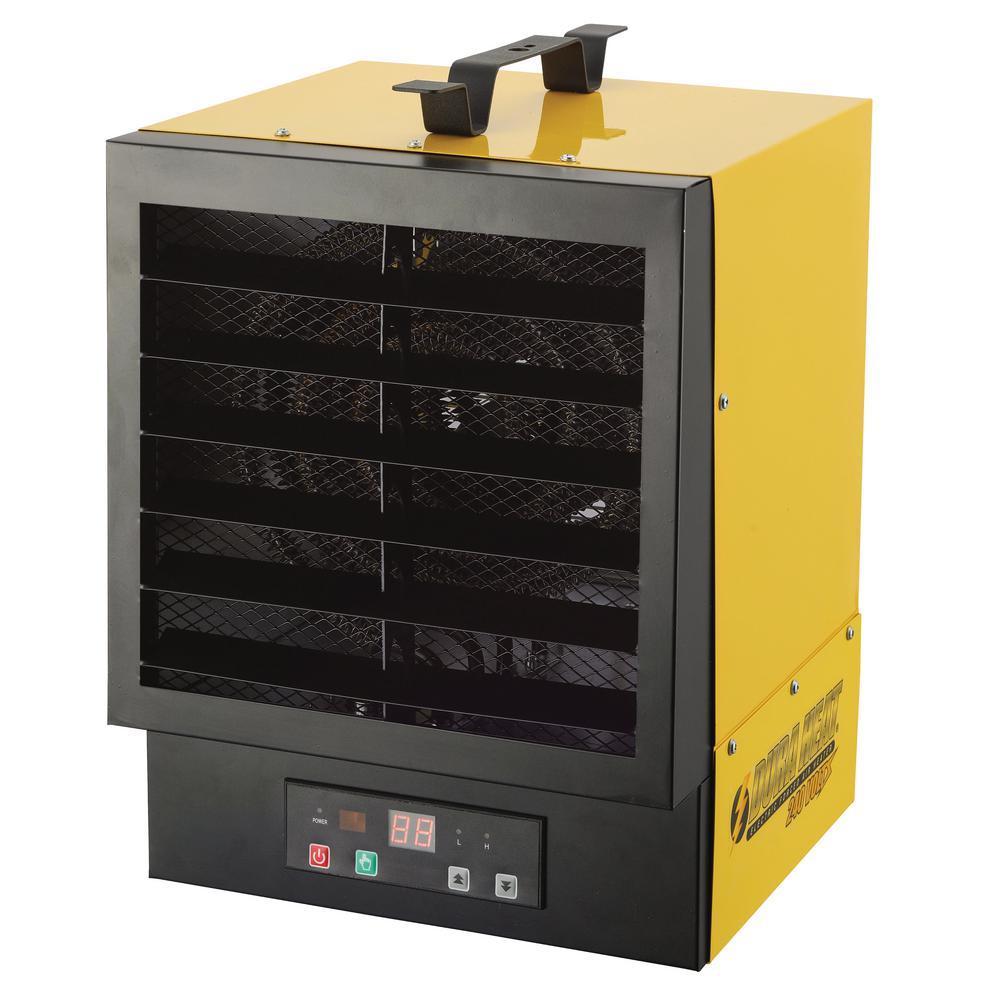 34,120 BTU Electric Forced Air Garage Heater with Remote Control
