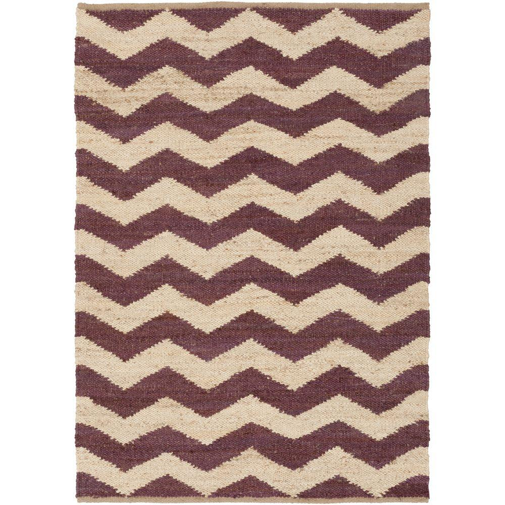 Portico Sadie Eggplant 9 ft. x 12 ft. Indoor Area Rug