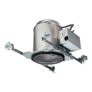 Halo E26 5 inch Raw Aluminum Recessed Light Housing for New Construction Ceiling, Insulation Contact, Air-Tite, No... by Halo