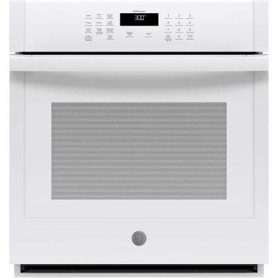 27 in. Smart Single Electric Wall Oven Self-Cleaning in White