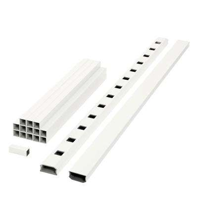 ArmorGuard Regency 70 in. White Composite Rail Kit