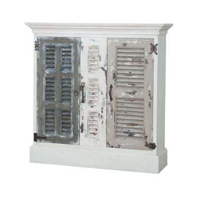 Waterfront Hall Garden Lattice White Storage Cabinet