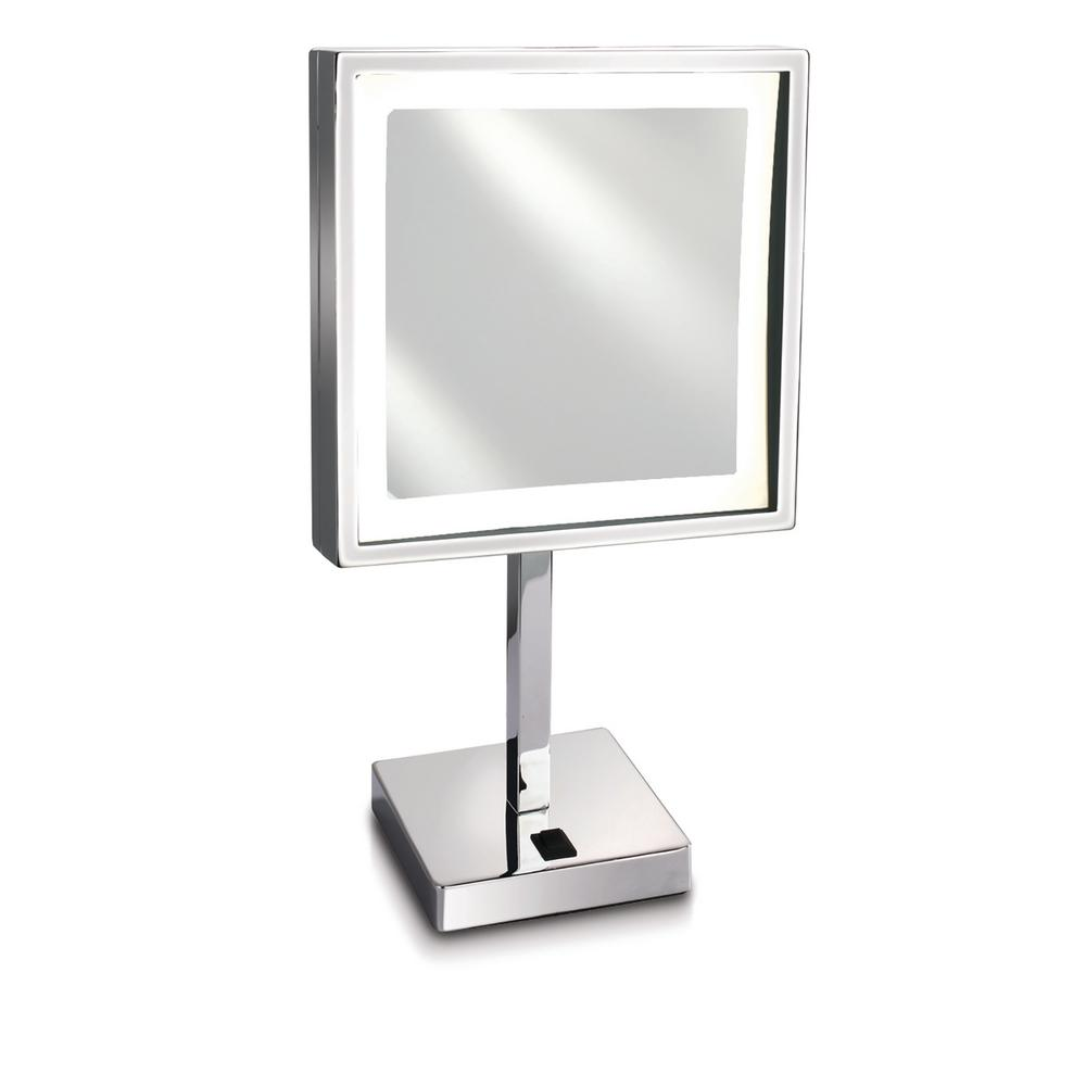 Lighted Makeup Mirror With Magnification.Empire Industries Empire 5x Magnification 8 In X 8 In Lighted Makeup Mirror