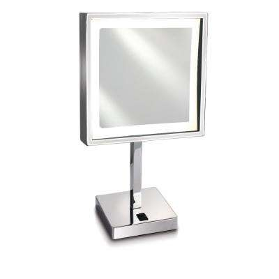 Empire 5X Magnification 8 in. x 8 in. Lighted Makeup Mirror