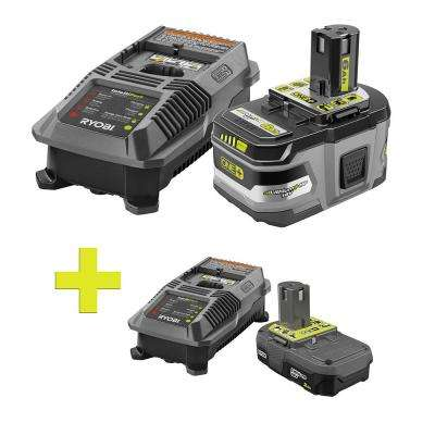 18-Volt ONE+ Lithium-Ion Lithium+ HP 6.0 Ah Starter Kit with ONE+ Lithium-Ion 2.0 Ah Battery/Dual Chemistry Charger Kit
