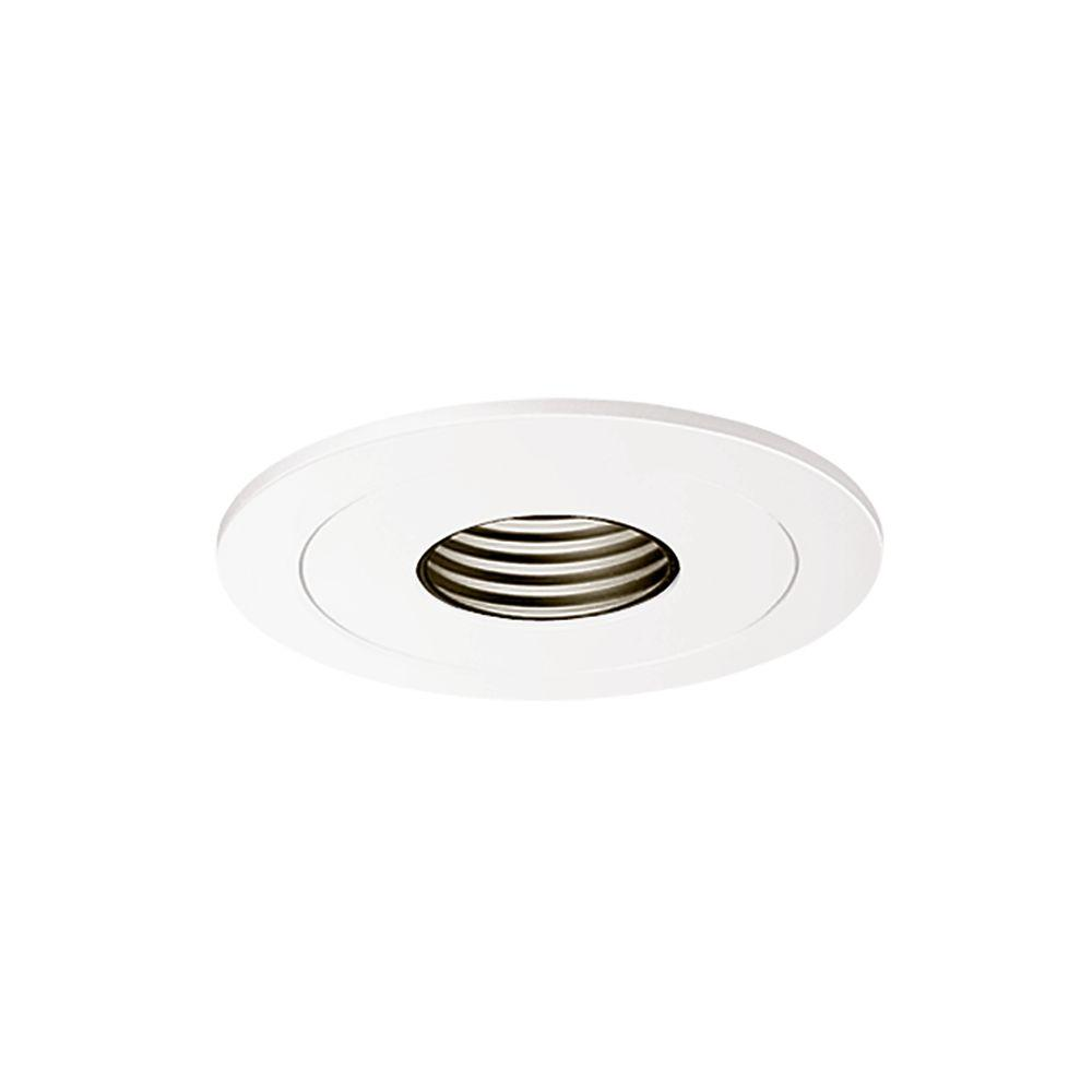 Halo Low Voltage 4 In White Recessed Ceiling Light Pinhole Trim With Black Baffle 1419p The Home Depot