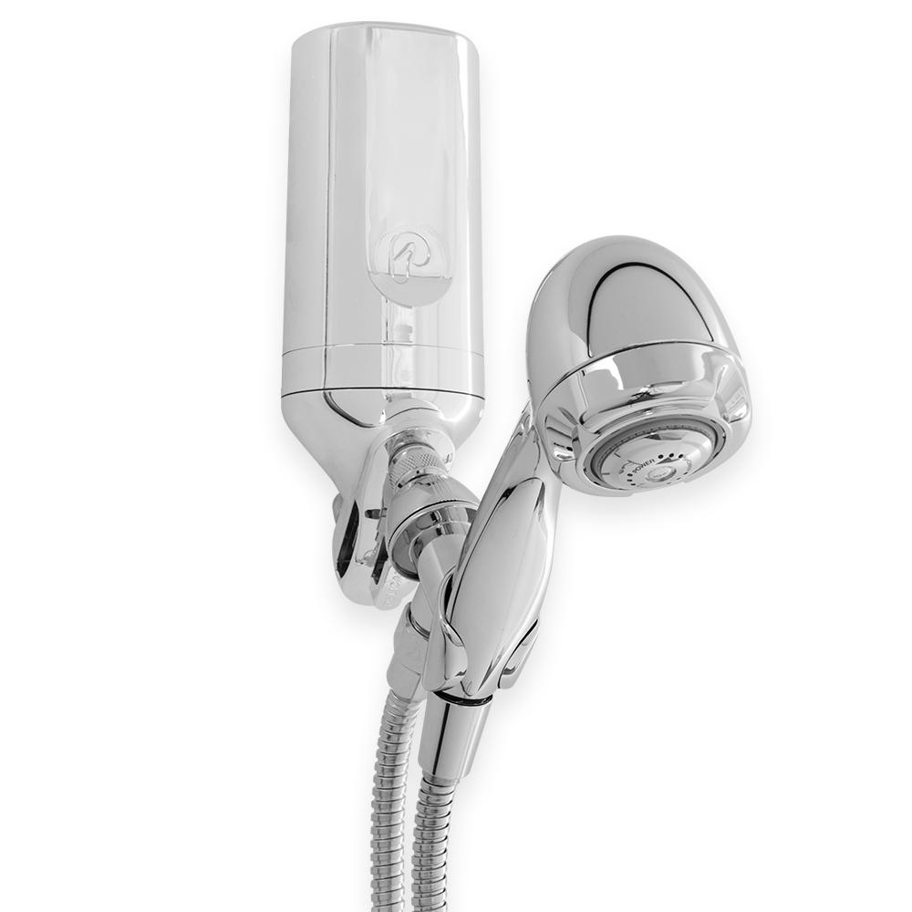 Pelican Water 3-Stage Premium Shower Filter with 5 ft. Wand Combo