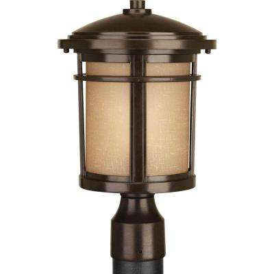 Wish Collection 1-Light Antique Bronze Post Lantern