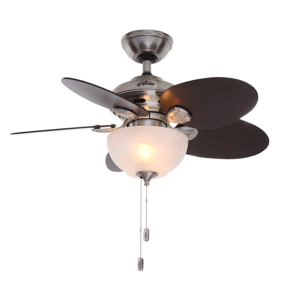 Hunter Carmen 34 in. Indoor Brushed Nickel Ceiling Fan