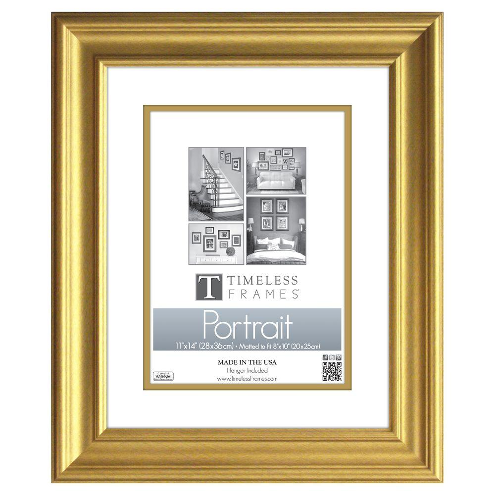 Timeless Frames Lauren 1 Opening 11 In X 14 In Gold Matted Picture