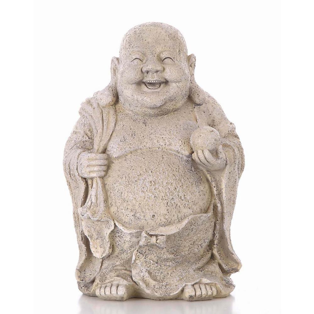 Hi Line Gift Buddha Holding Ball Statue 75622 The Home Depot