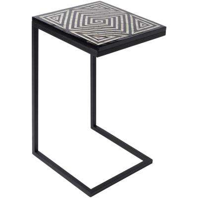 Oughll Black Accent Table