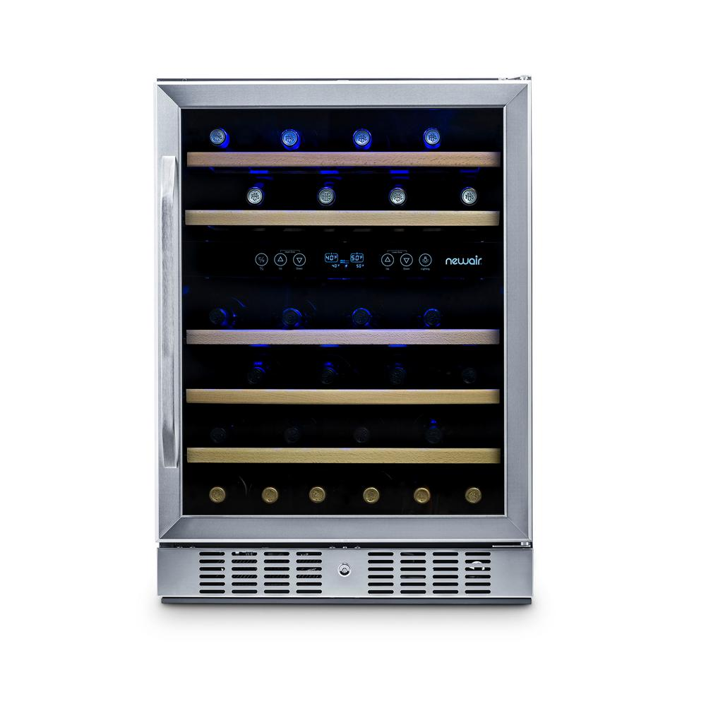 Newair Dual Zone 46 Bottle Freestanding Wine Cooler Awr 460db The