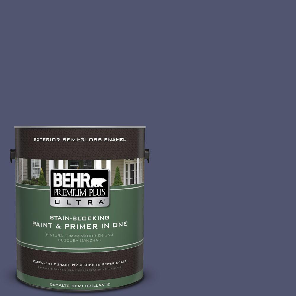 BEHR Premium Plus Ultra 1-gal. #S540-7 Bossa Nova Semi-Gloss Enamel Exterior Paint