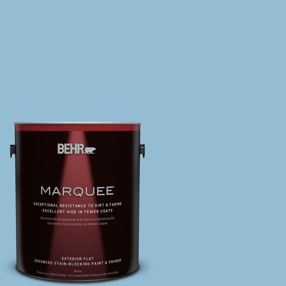 1-gal. #M500-3 Blue Chalk Flat Exterior Paint