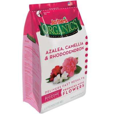 4 lb. Organic Azalea, Camellia, Rhododendron Plant Food Fertilizer with Biozome, OMRI Listed