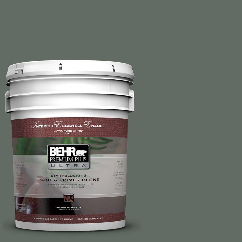 BEHR Premium Plus Ultra 5 gal. #700F-6 Dense Shrub Eggshell Enamel Interior Paint and Primer in One
