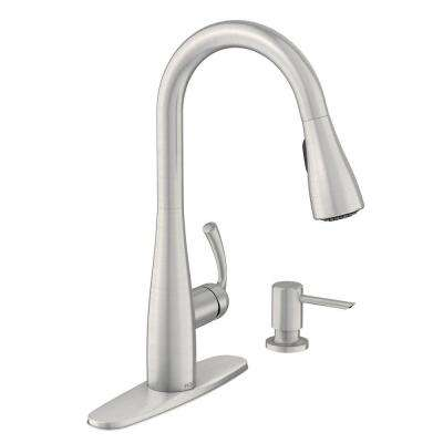 Essie Single-Handle Pull-Down Sprayer Kitchen Faucet with Reflex and Powerclean in Spot Resist Stainless